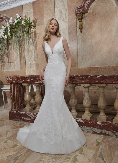 Robe de mariée AD-2020-05 Charmeuse by Tomy Mariage